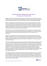 Position Statement: Midwifery units and COVID-19